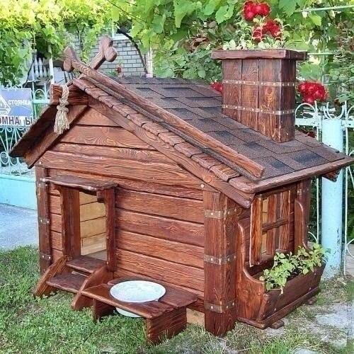 Красивая будка для собаки