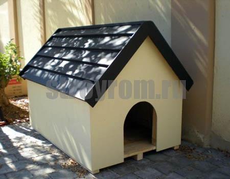 Теплая будка на зиму для собаки, живущей во дворе