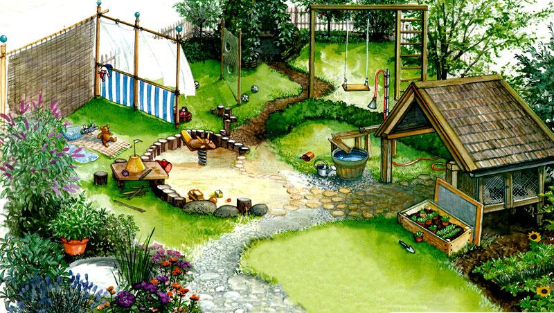 Пример детской площадки 1