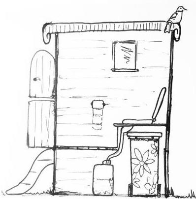 Простой туалет для дачи