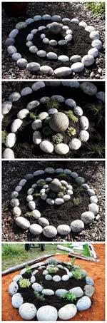 клумба своими руками из камней