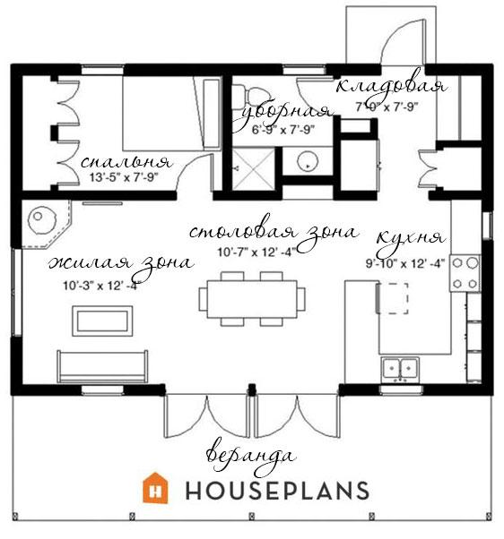 План и размеры дома