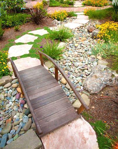 Идеи создания сухих ручьев на дачном участке