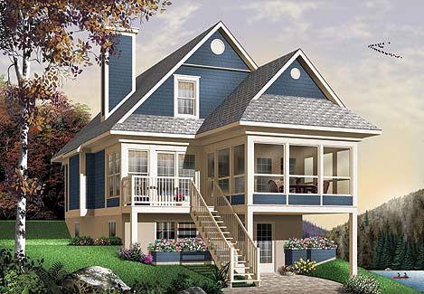 проект дома в двух уровнях