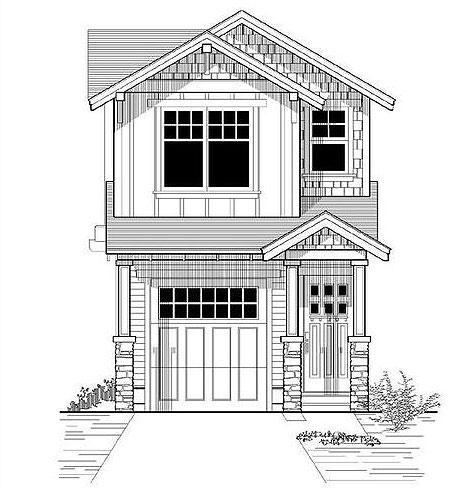 проект узкого дома