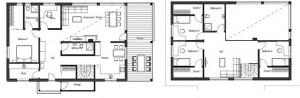 план дома в стиле шале