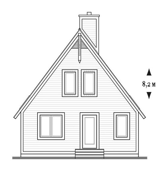 фасад дом шале