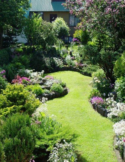 Пример английского пейзажного ландшафтного дизайна