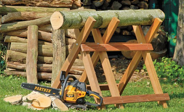 Сделать козлы для пилки дров бензопилой своими руками