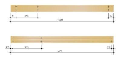 Козлы для распиловки дров своими руками - чертеж с размерами планок