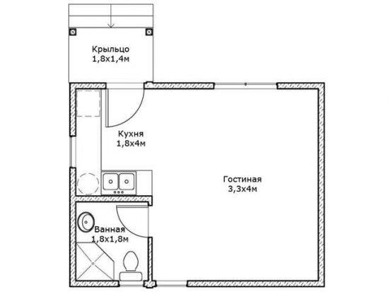 5 удобных Проектов Дачных Домиков