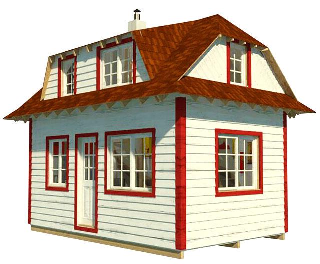 Каркасные домики эконом класса своими руками
